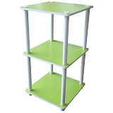 FUNIKA 3 Tier Mini Square Shelf [11213] - Green - Rak Mini